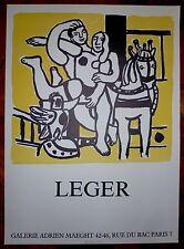 """Fernand Leger Affiche en Litho art abstrait """"le cirque"""" abstraction"""