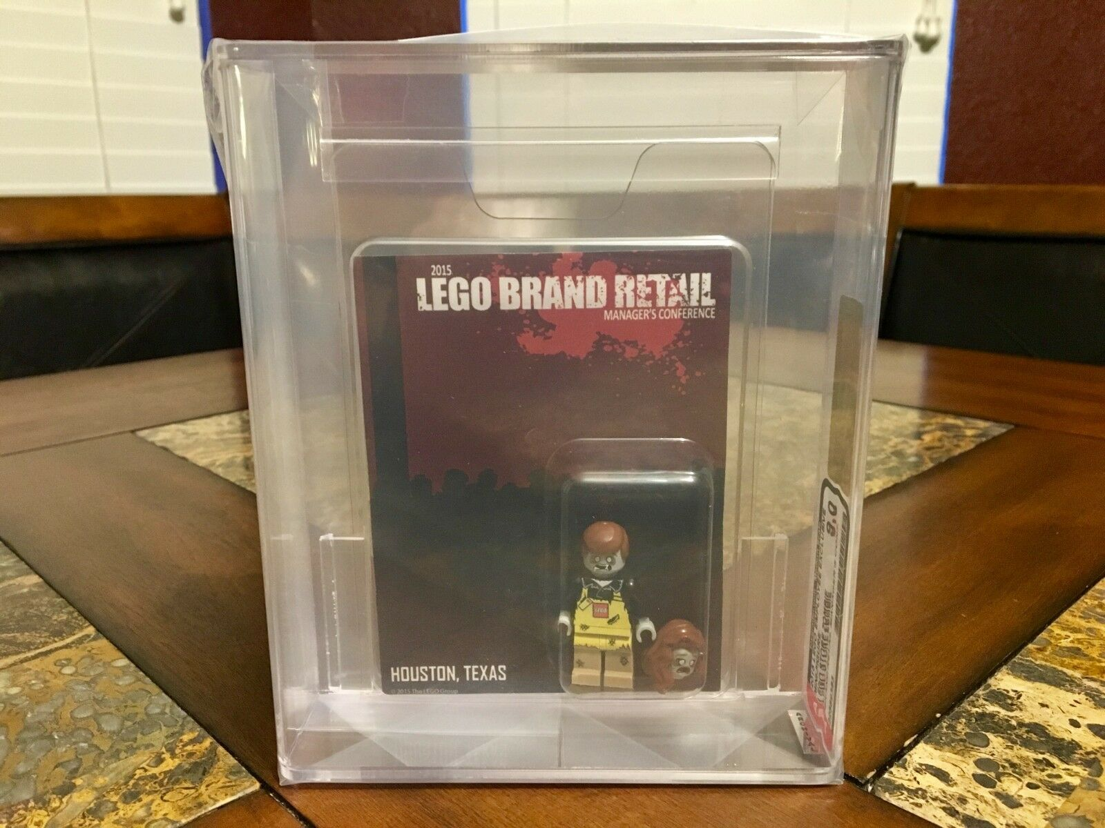 LEGO 2015 ZOMBIE MANAGERS CONFERENCE RARER THAN MR Gold SDCC AFA 9.0 BONUS SET