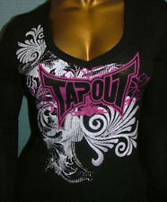 TAPOUT Women's Long Sleve Graphic Thermal Top NWT Size Med-Fits like a Small