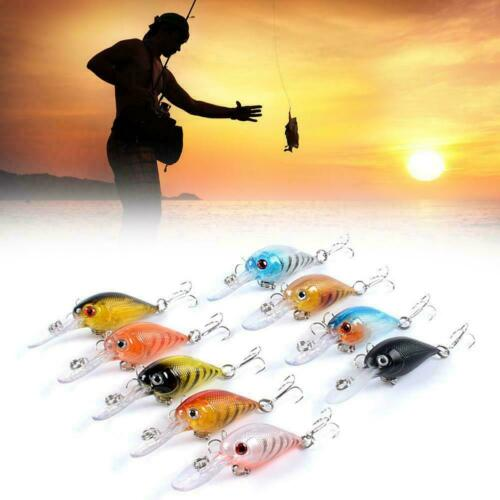 Fishing Lure 5.7cm//4.7g Mini Crankbait Hard Artificial Fishing Bait O2C5