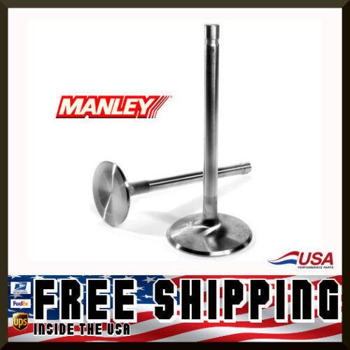 "Manley SBC Severe Duty 11595-8 Exhaust Valves 1.600 11//32/"" 4.936/"" std length"