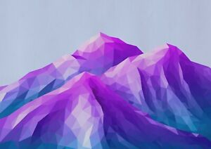 A1-Ombre-Mountains-Poster-Print-60-x-90cm-180gsm-Digital-Art-Wall-Decor-14495