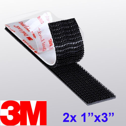 "3M 1/"" x 3/"" 2X Dual Lock SJ3550 Type 250 VHB Black Reclosable Fastener In//Outdoor"