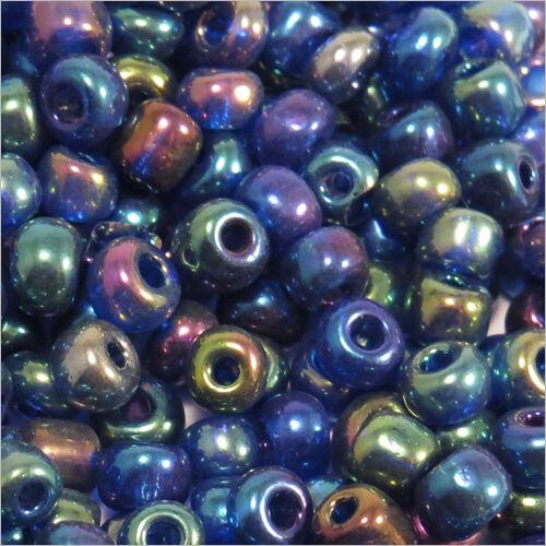Perles de Rocailles en verre Opaque 4mm Bleu AB 20g 6//0