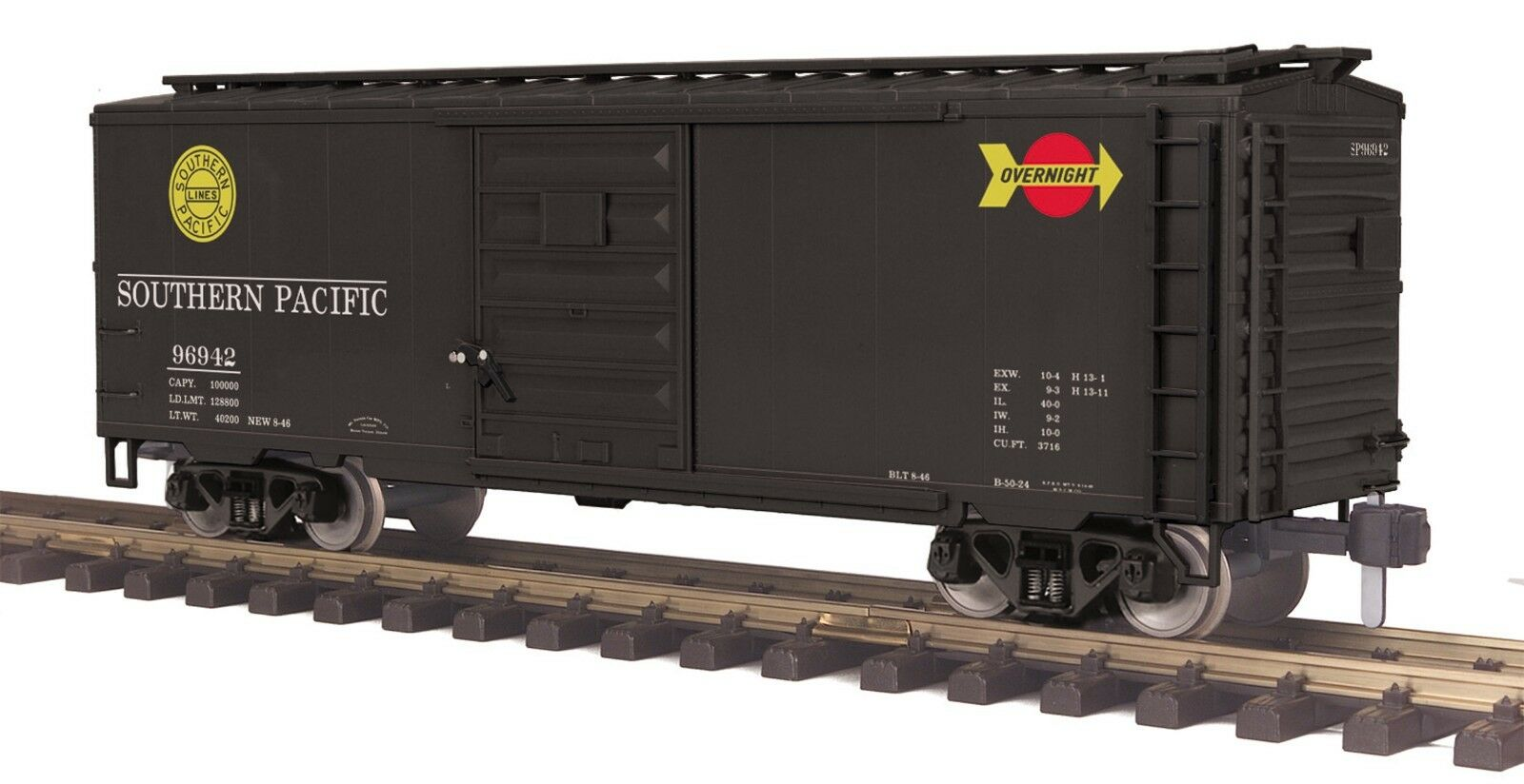 70-74100 MTH ONE-GAUGE Southern Pacific (Overnight) 40' Box Car