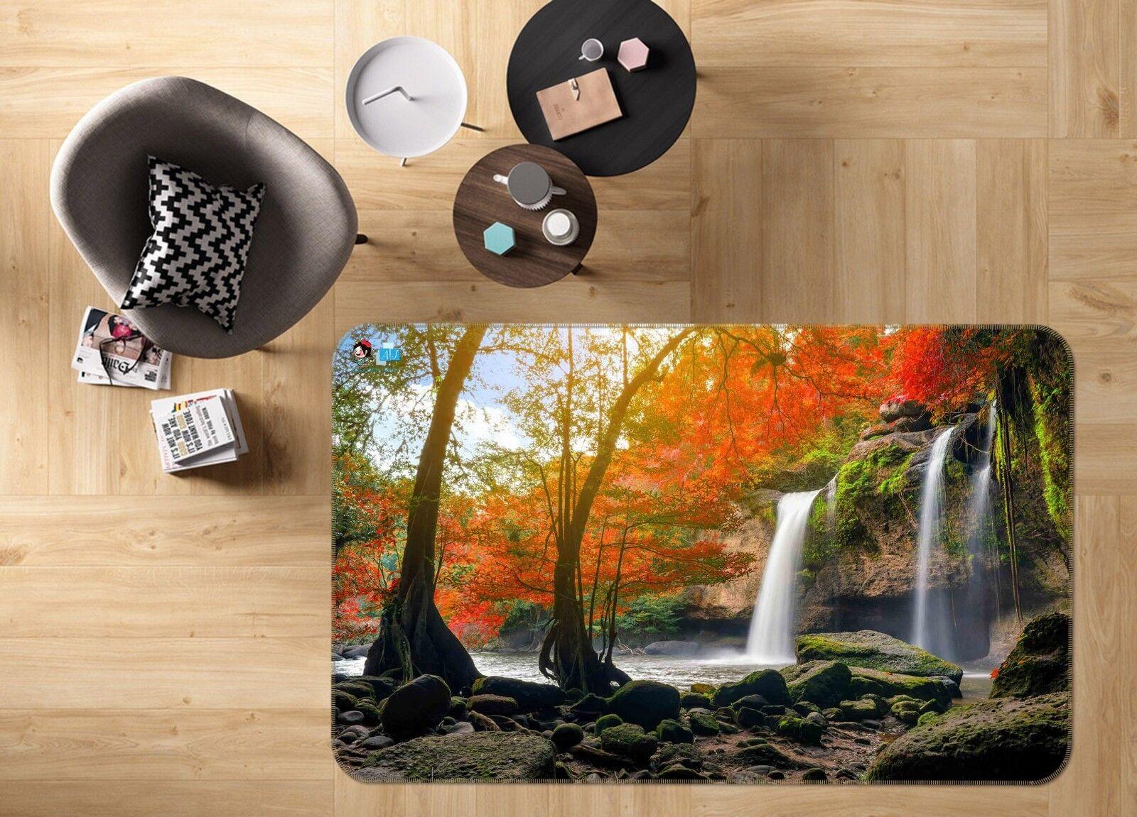 3D Stream Plant Natural 25 Non Slip Rug Mat Quality Elegant Photo Carpet US Cobb
