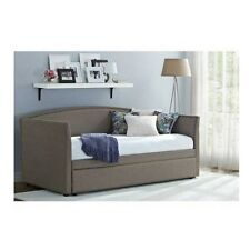 Upholstered Daybed With Trundle Guest Beds For Adults Twin Size Rails Headboard
