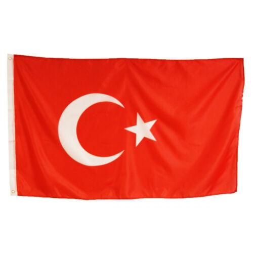 Fahne Türkei Flagge Türkiye 90x150cm Türkische Hiss Flagge Wetterfest NEU//OVP