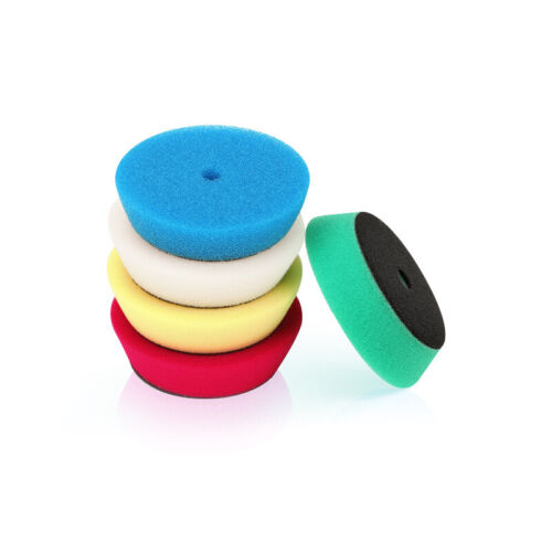 SPTA 5Pcs 3Inch Polishing Pads Buffing Pads Wool Buffer Pads For DA RO Polisher