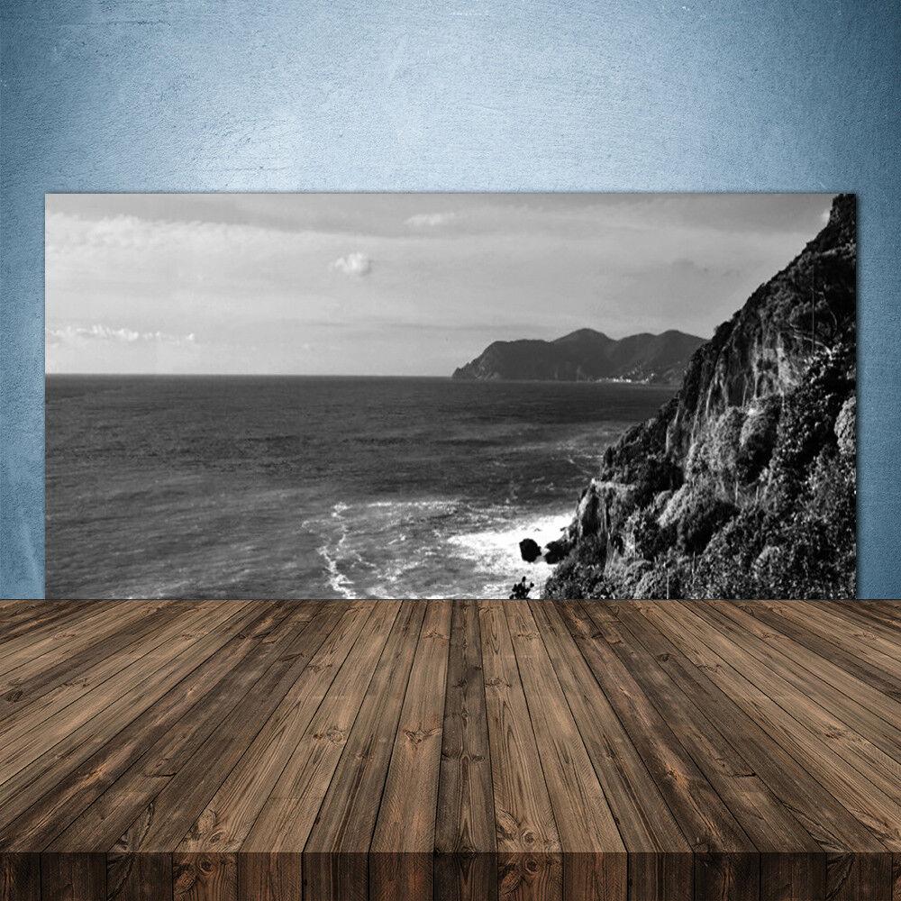 Crédence de cuisine en verre Panneau 140x70 Paysage Mer Montagnes