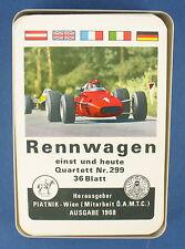 Quartett - Rennwagen - Piatnik - Nr. 299 - von 1968 - Auto Kartenspiel - 2