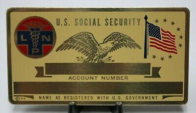02CHJ Metal Mason Freemason Social Security ID Card Custom Engraved