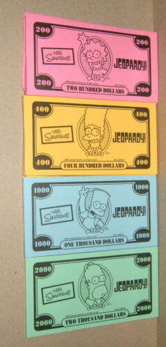 The Simpsons Edition Jeopardy Board Game Replacement Parts /& Pieces 2003