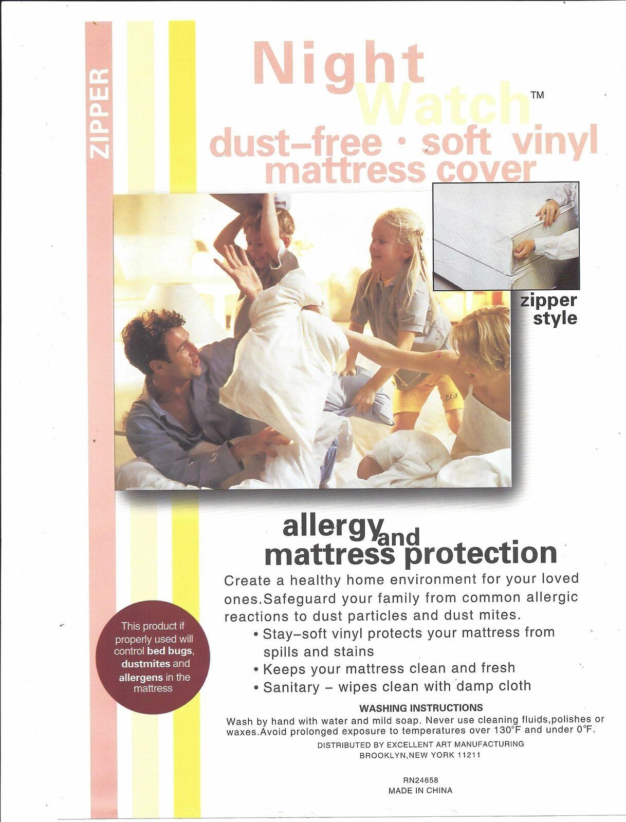 Vinyl Waterproof Mattress Prossoector- Zipperosso Closure - 5 Gauge