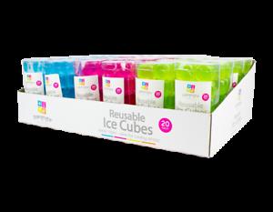 Réutilisable Ice Cubes Rose vert ou bleu
