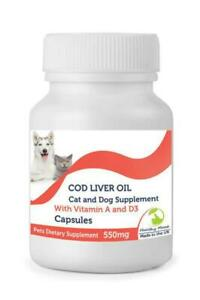 Cod-Liver-for-Pets-Oil-550mg-amp-Vitamin-A-amp-D3-250-Capsules-British-Quality-Petri