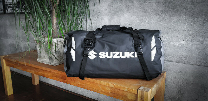 ORIGINALE Suzuki 35 litri unisex SUZUKI Dry Bag Nero COPERTONI Spalla Cinghia Nuovo