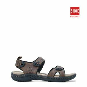 Hush Puppies AUSTIN Brown Mens Sport/Surf Casual Leather Sandals