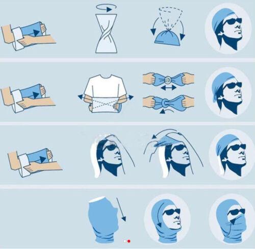 Blue Skeleton bandana face sock motorcycle fishing ski mask