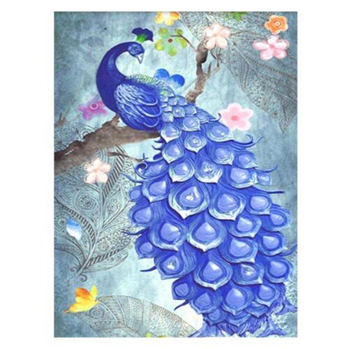5D Peacock Diamond Embroidery Painting DIY Cross Stitch Craft Kit Home Decor