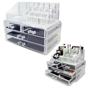 Espositore Organizer Porta Trucco Box Portagioie Cosmetici 3 Cassetti Art.10255