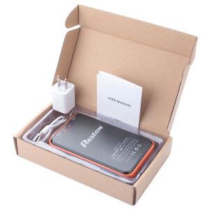 Phixton 10000mAh Dual USB Solar Power Bank Panel Cellphone Charging Power Stock