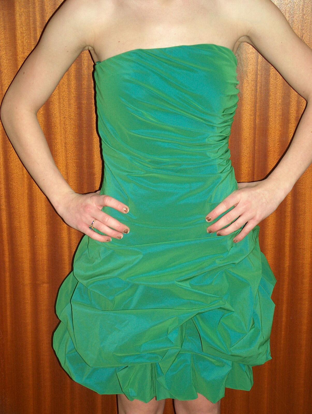 Damenmode - Kleider - Ballkleider - Cocktailkleid Gr. 32 Neptungrün