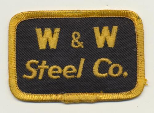 "Vintage W&W Steel Co. Embroidered Patch 3"" x 2"""