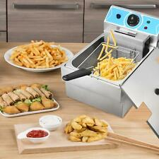 New Listingelectric Deep Fryer 2000w 8l Commercial Countertop Basket French Fry Restaurant