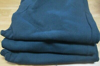 Wilson Sweat Pants 2XL 3 Pair Black Navy  2 Side Pockets Elastic Draw String