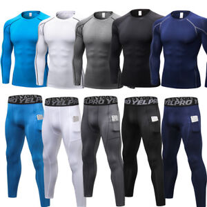 Compression-Baselayer-Tights-Mens-Sport-Pants-Shirt-Fitness-Running-Cool-dry-Top