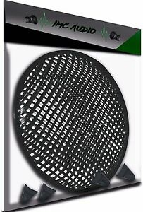 """12 INCH SUBWOOFER SPEAKER COVERS WAFFLE MESH GRILL PROTECT GUARD W/ CLIPS 12"""""""