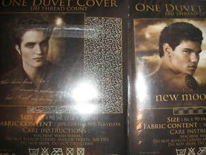 Details about NEW DUVET COVER Twilight EDWARD or JACOB Black FULL/QUEEN  vampire moon wolf