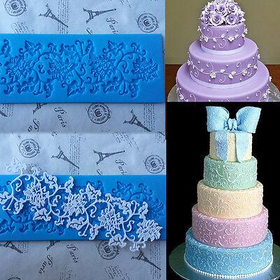 1x Silicone Lace Cake Decorating Mold Sugarcraft Fondant Chocolate Baking Mould