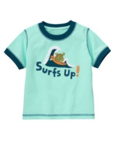 S//S TEE 3 6 12 2T 5T NWT GYMBOREE GONE SURFIN/' BLUE TURTLE SURFING Surfs Up