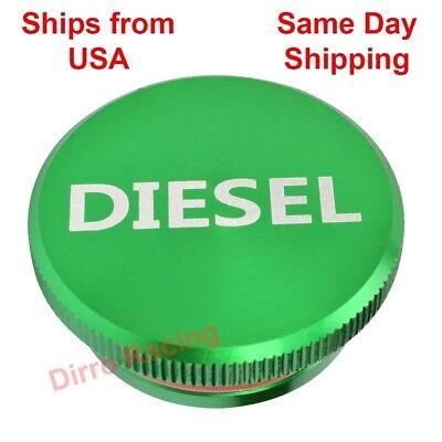 Green Billet Magnetic Fuel Filler Gas Tank Cap Diesel 1500 2500 3500 Dodge Ram