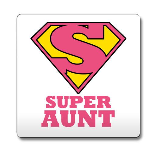 Pink SUPER Aunt hero novelty job title Coaster funny 012