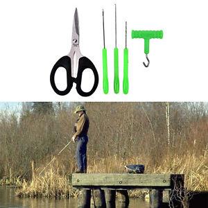 5X-Baiting-Needle-Set-Carp-Fishing-Tackle-Tool-Kit-Hook-Bait-Rig-Knot-Puller-S-amp-K
