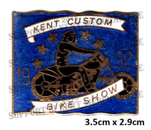 HELLS-ANGELS-KENT-CUSTOM-BIKE-SHOW-1992-Pin-Badge-HIGHLY-COLLECTABLE-RARE-KCBS
