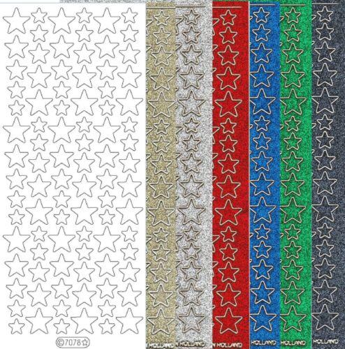 Starform Glitter Stickers 7078 étoile Etoiles Stars Auto-collants Peel offs