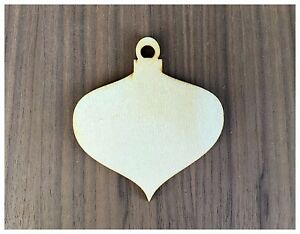 Details About 6 Pieces Unfinished Wood Laser Cut Christmas Ornament Shapes Vintage Ornaments
