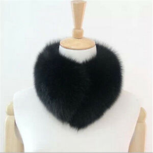 Real-Cape-Fox-Fur-Collar-Women-039-s-Scarf-Shawl-Stole-Wrap-Furry-Elegant-Scarves