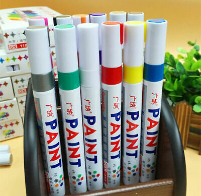 10Color Waterproof Permanent Oil Based Paint Pen Car Bike Tyre Tire Metal Marker