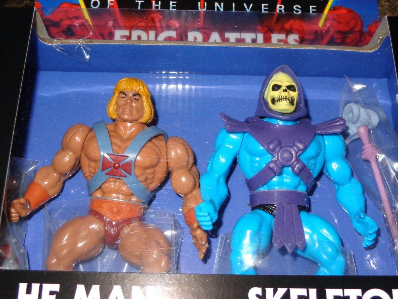 Masters Of The Universe Rare Rare Rare He-Man Skeletor Epic Battles Action Figure Set New d3ff6e