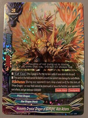 Buddyfight 1x S-BT02A-UB04//0010EN RR Heavenly Crystal Dragon of Sunlight Aldo A