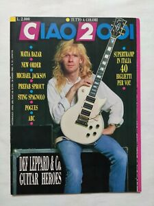 RARE CIAO 2001 N. 13 1988 + POSTER DEF LEPPARD MICHAEL JACKSON STING ABC