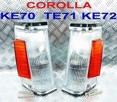 FRONT CORNER LIGHTS FIT FOR TOYOTA COROLLA KE70 KE72 TE71  1982 1983 1984
