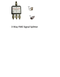 Mobile Phone Signal Cable Splitter 3way with FME Connectors, Telstra, Optus