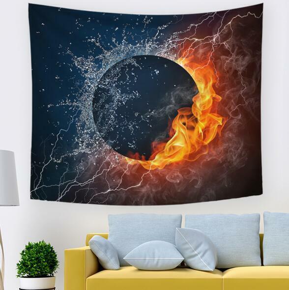 3D Flammenplanet C131 Tapisserie Hängendes Tuch Hängen Wallpaper Wandbild Zoe