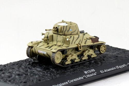 Panzer M 13//40 Italien El Alamein 1942 Fertigmodell 1:72 Altaya